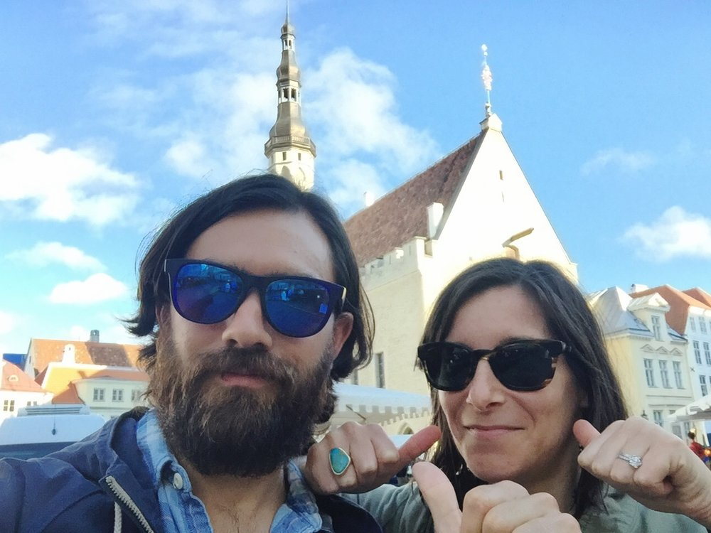Who has three thumbs and goes to Estonia?