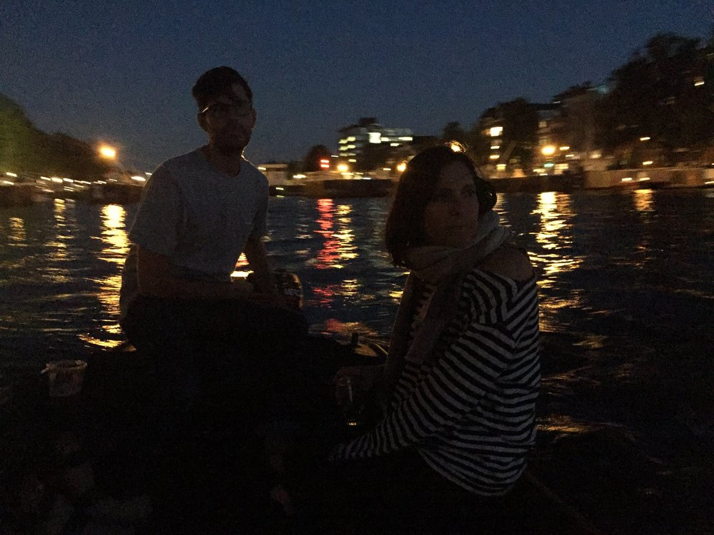 late nights on boats...