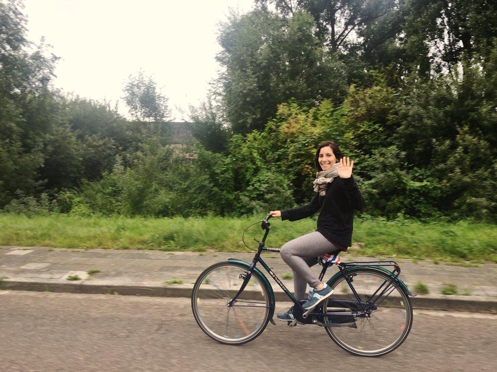 biking...
