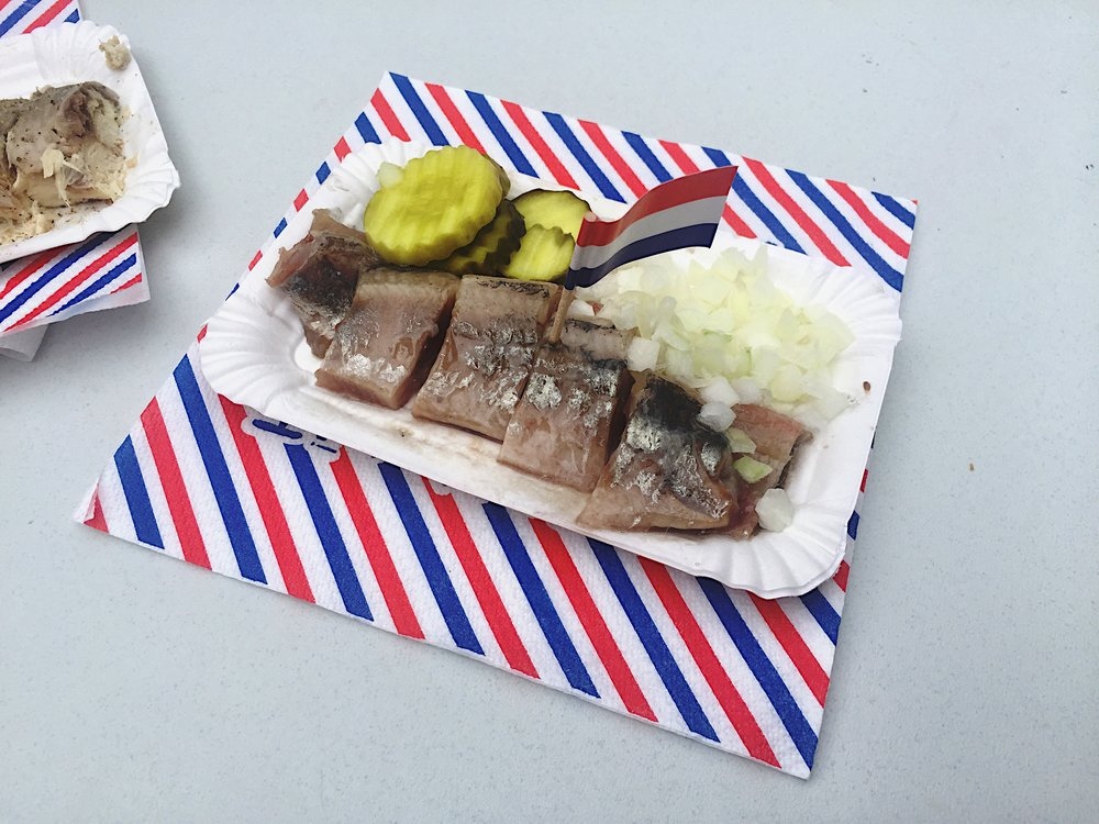 Another Dutch delicacy: slimy herring