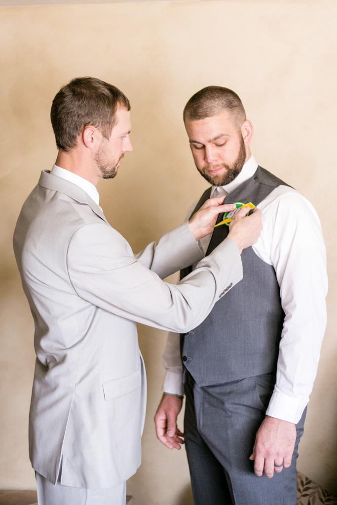 montana groom with best man