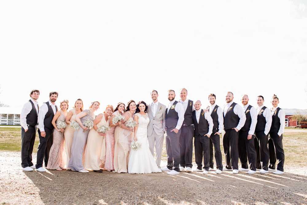 montana wedding party picture