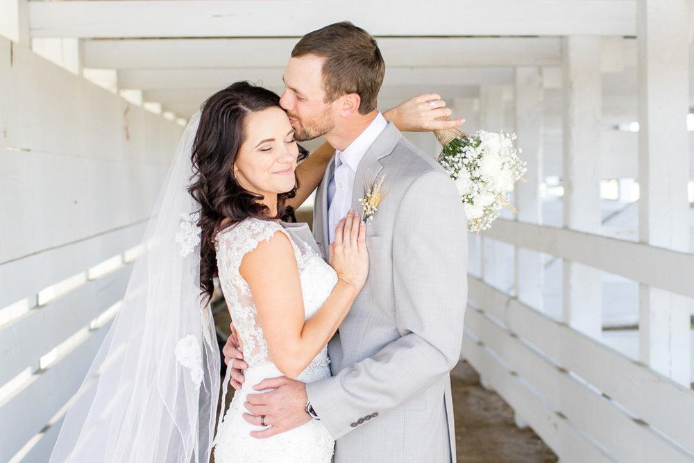 montana bride and groom kissing