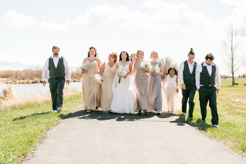 Montana Bridal Party Walking