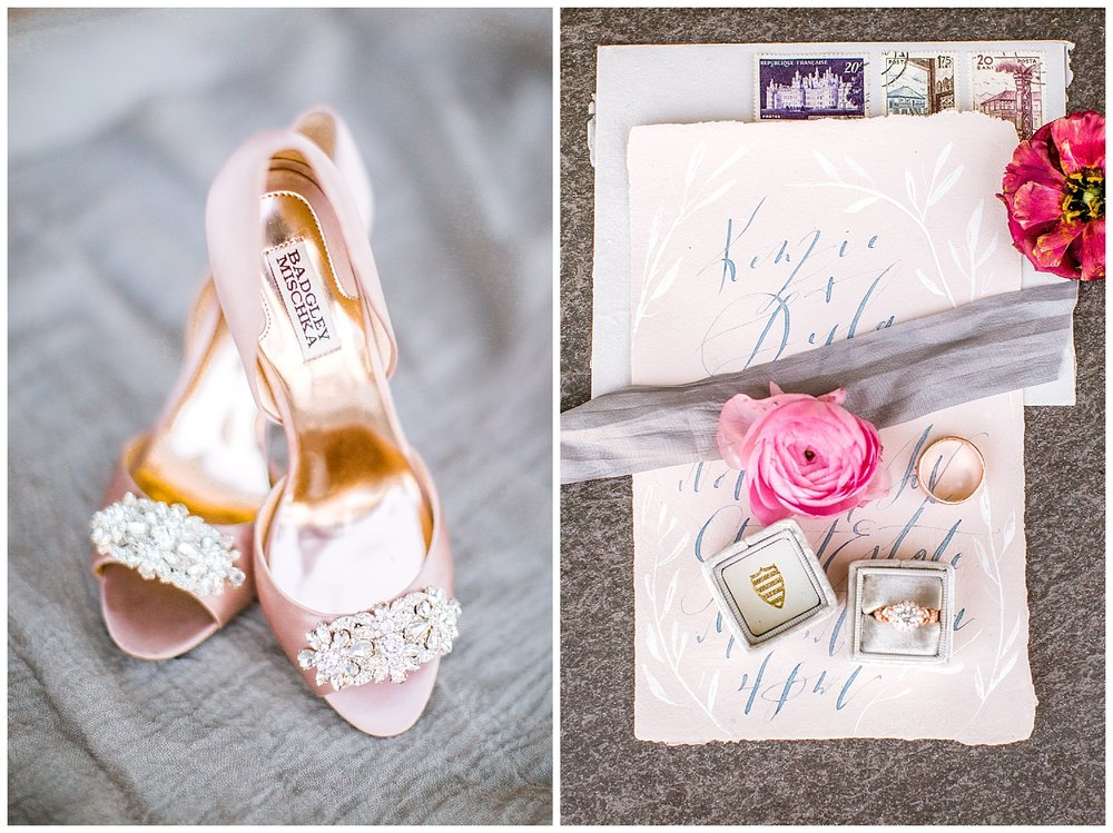Badgley Mischka Wedding Shoes and Styled Details by Billings Wedding Photographer