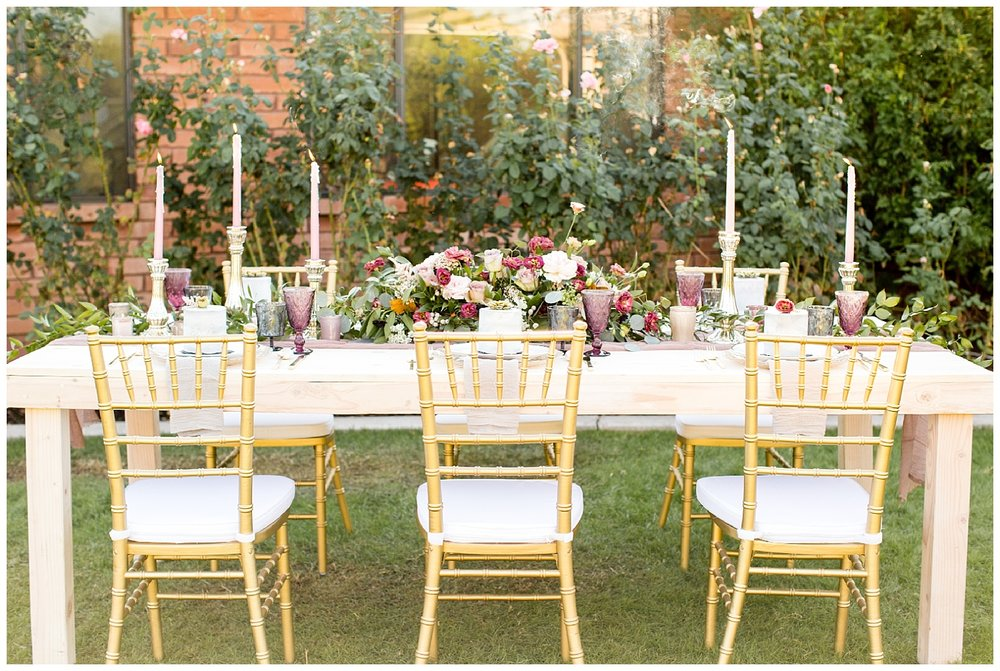 Arizona Styled Wedding Table and Billings Wedding Photographer