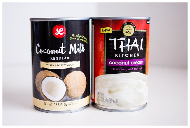 Coconut milk in a CAN! Don't miss this important detail.  My favorite is the one on the left (the Lucky's brand) and I don't care too much for the taste of the Simply Asia one, but I will use it if I'm out of the other kind. Canned coconut milk (or cream) is much creamier than the coconut milk in a carton.