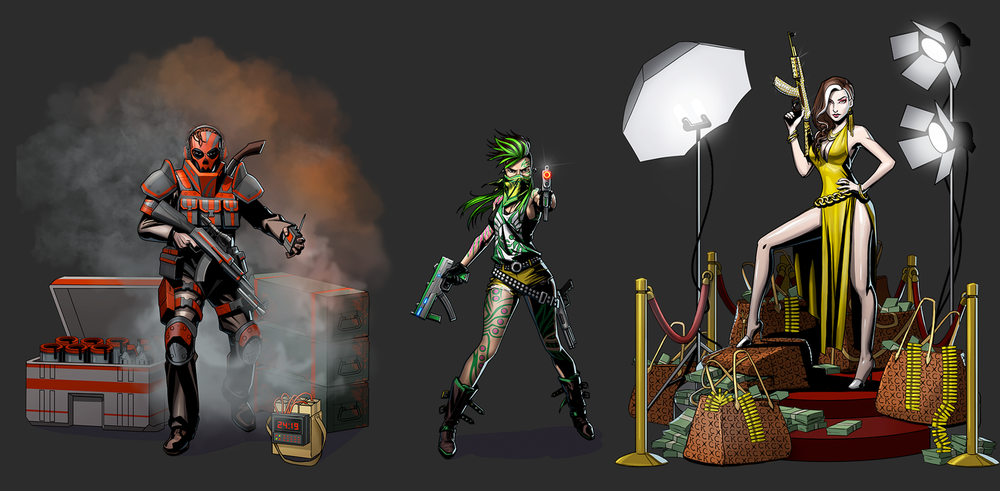 A closer look at some of the character designs.