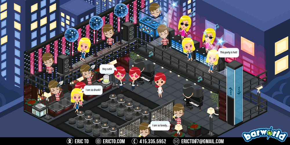 Bar concepts - Fancy bar on the first floor and dance club on the second floor.