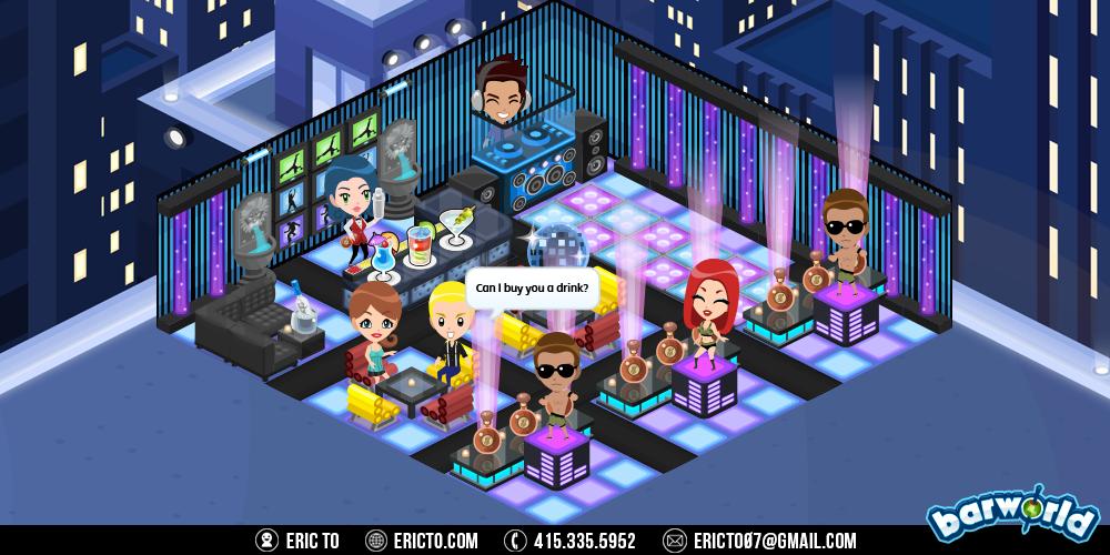 Rooftop dance club theme