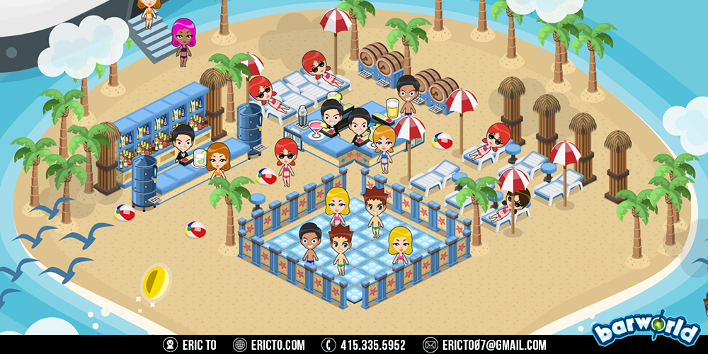Private beach party theme