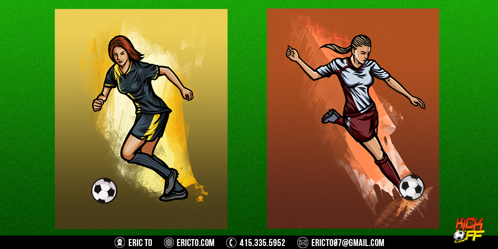 Character concept art for load screens.