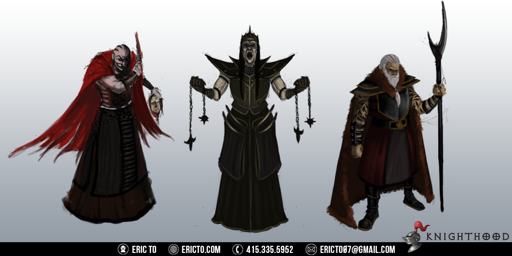 Character sketches for villains.