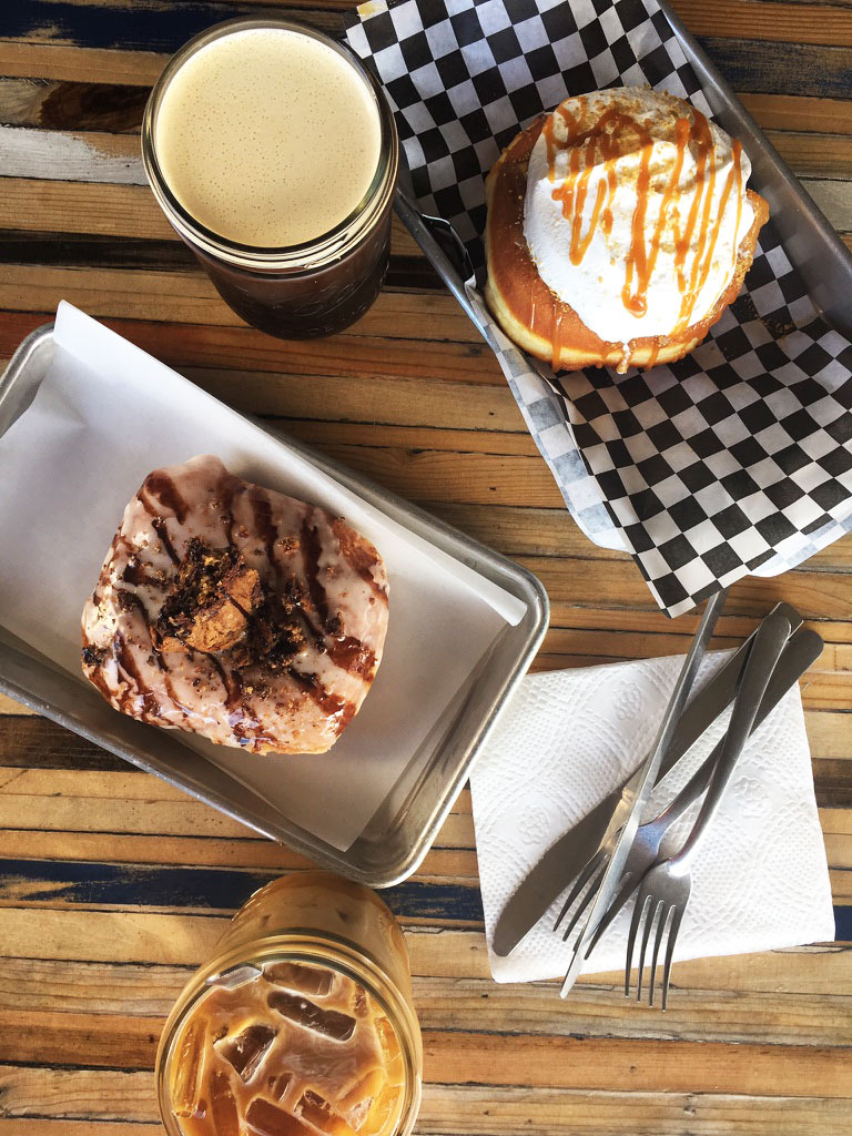 Coffee and dessert donuts at Streetcar Merchants