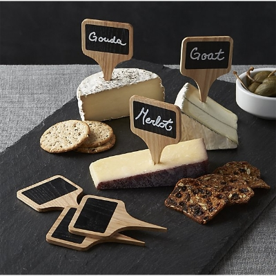 Chalkboard Cheese Markers - Set of 6