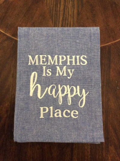 """Memphis is My Happy Place"" Dishtowel"