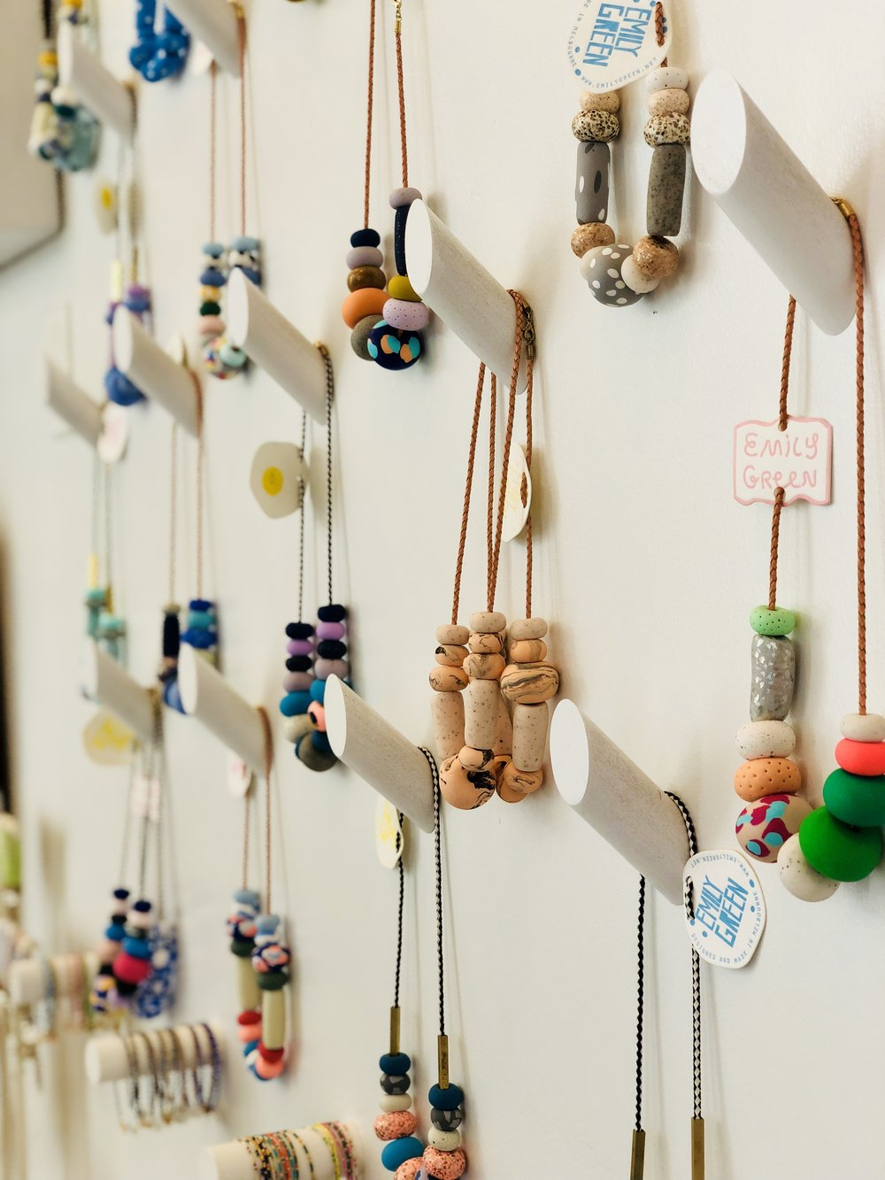 Necklaces by  Melbourne-based artist, Emily Green.