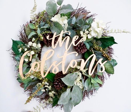 Just loving this gift idea for SO many occasions: housewarming, wedding gift, engagement gift, Christmas gift...the list goes on. The handmade sign from @gildedgracedesigns on @etsy starts at just $19 and is customized calligraphy. Head over to her page to see more of her fabulous work! #ffinds 🎁