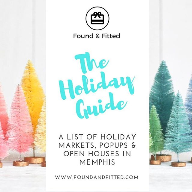"""🎶""""It's beginning to look a lot like... 🎄🎁❄️🎶 In the spirit of the season, I've compiled a list of all the amazing holiday markets, pop ups, & open houses to shop in the Memphis area from now until 2019! Check out the link in my bio for the latest or head over to my blog @ foundandfitted.com. Happy shopping! 🛍"""