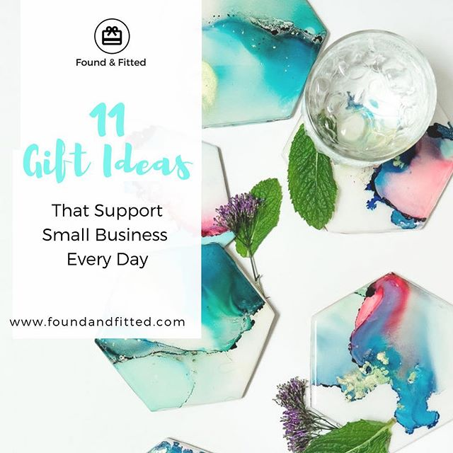 Happy Small Business...Every Day!  I pulled together 11 of my favorite gift ideas to grab from small businesses, no matter what day it is. 🎁  Bonus - you can shop from all of these businesses from the comfort of your couch (or desk!) and most have a storefront too if you'd rather stop by. Link in profile for full list! #ffinds