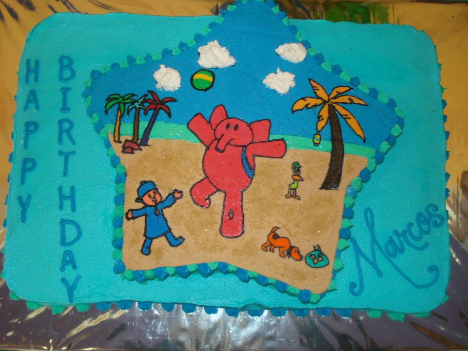 Pocoyo cake for Marcos