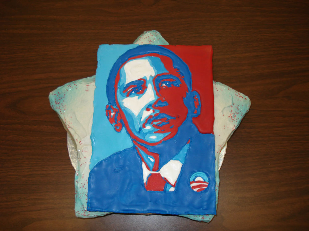 Obama inauguration cake Image concept credit: Shepard Fairey
