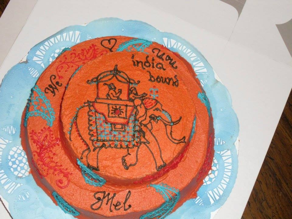 Farewell cake for India-bound Mel