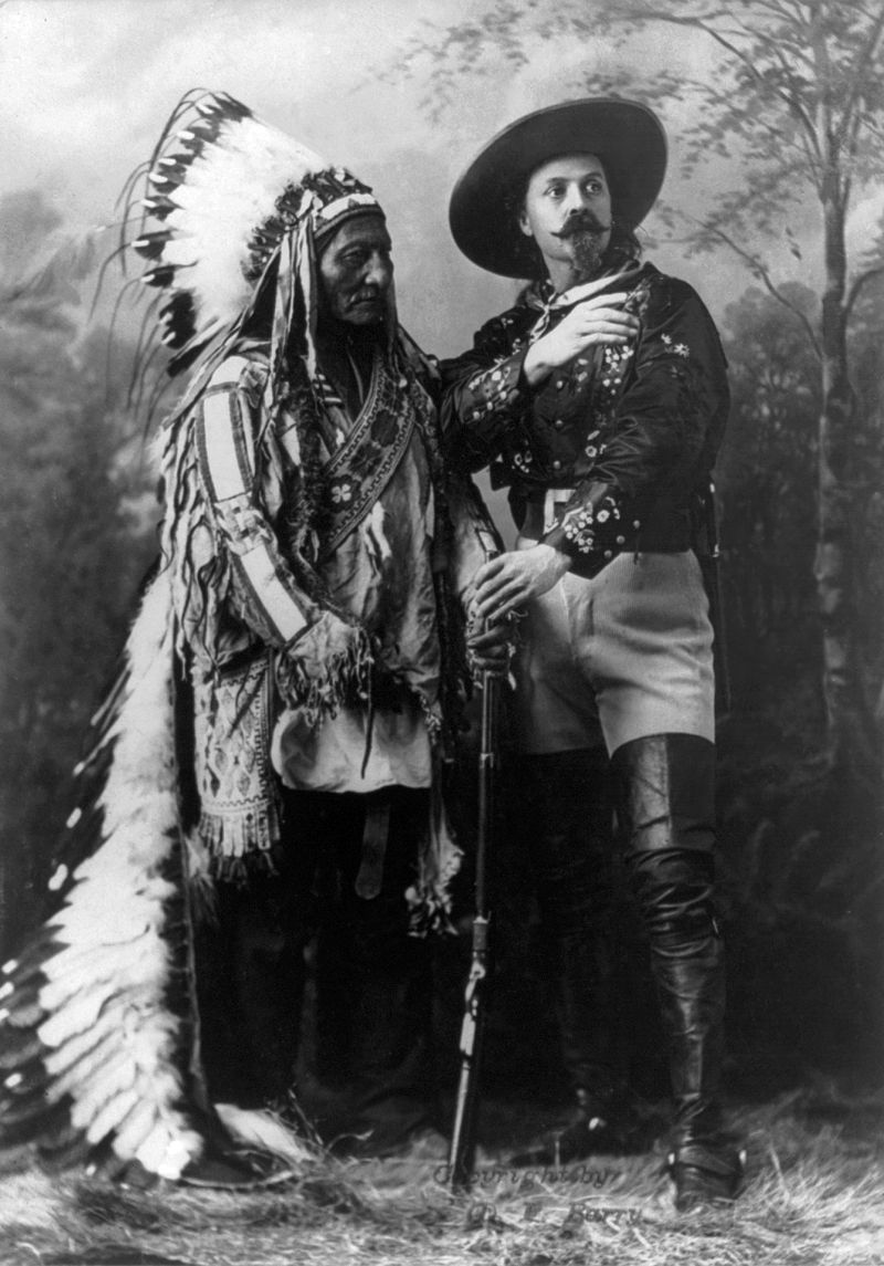 Sitting Bull and Buffalo Bill, 1895