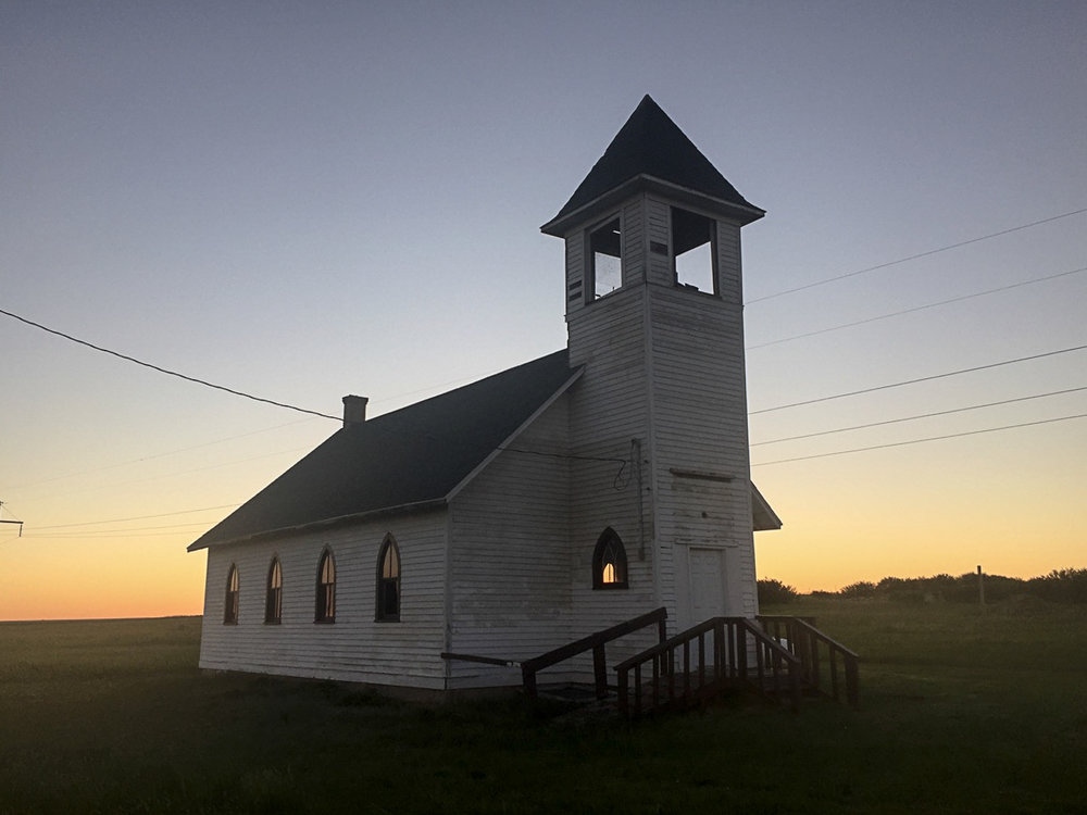Abandoned church just off the Montana Hi-Line