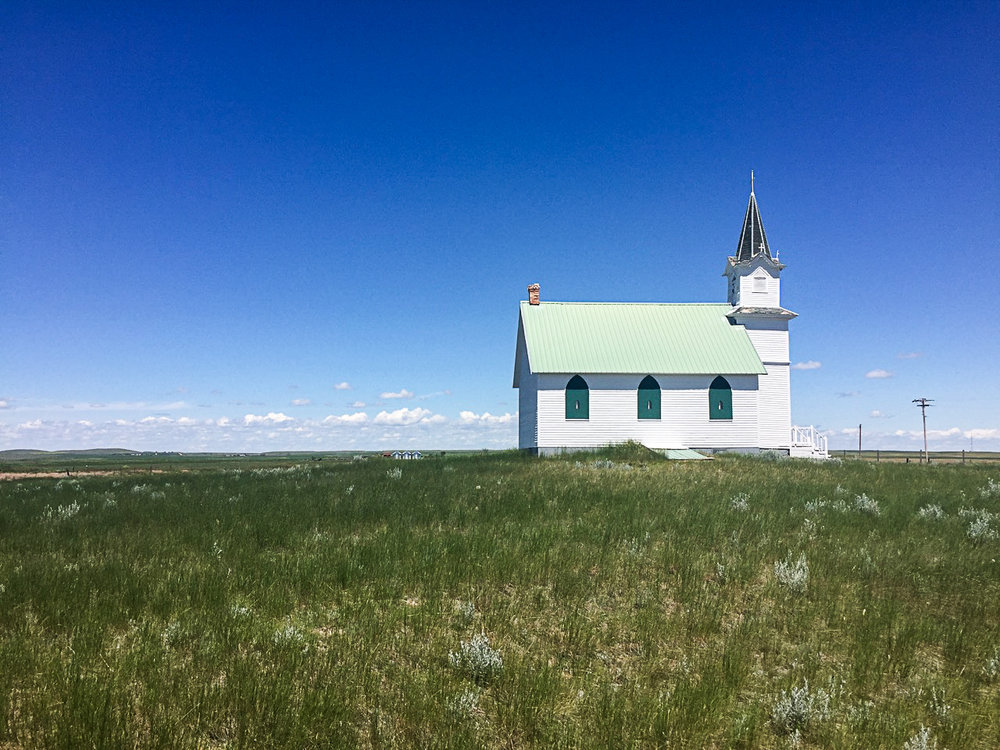 Scandia Lutheran Church near Malta, Montana