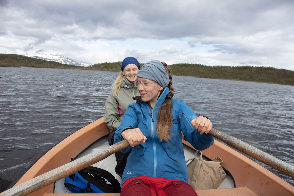 A group of researchers collect data on methane releases from Arctic lakes and wetlands.