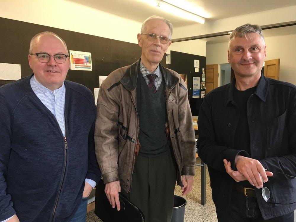 Kristinn Hrafnsson, Thorsteinn Saemundsson, Steve Christer