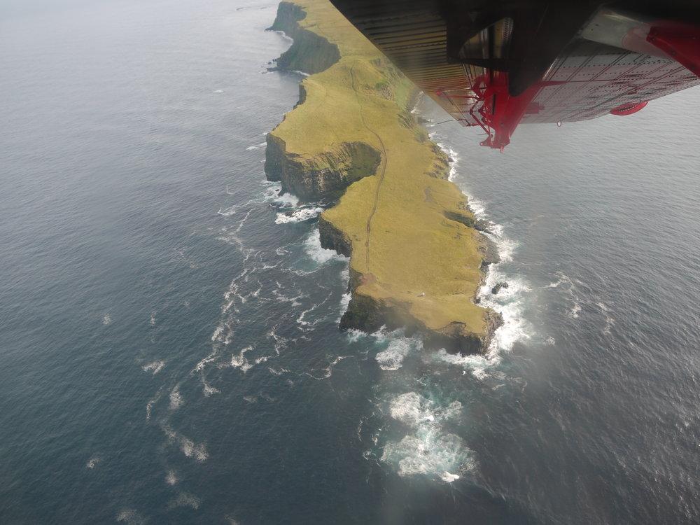 Grímsey Island from the air