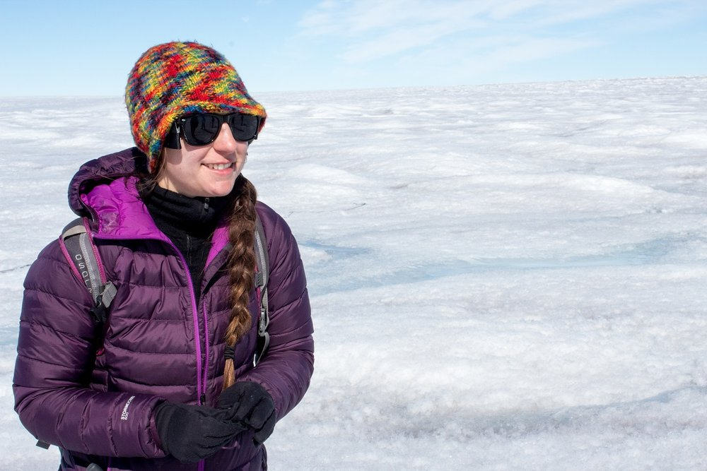 """Going to the Greenland ice sheet is """"every geophysicist's dream,"""" says Rosie Leone, a graduate student at the University of Montana."""