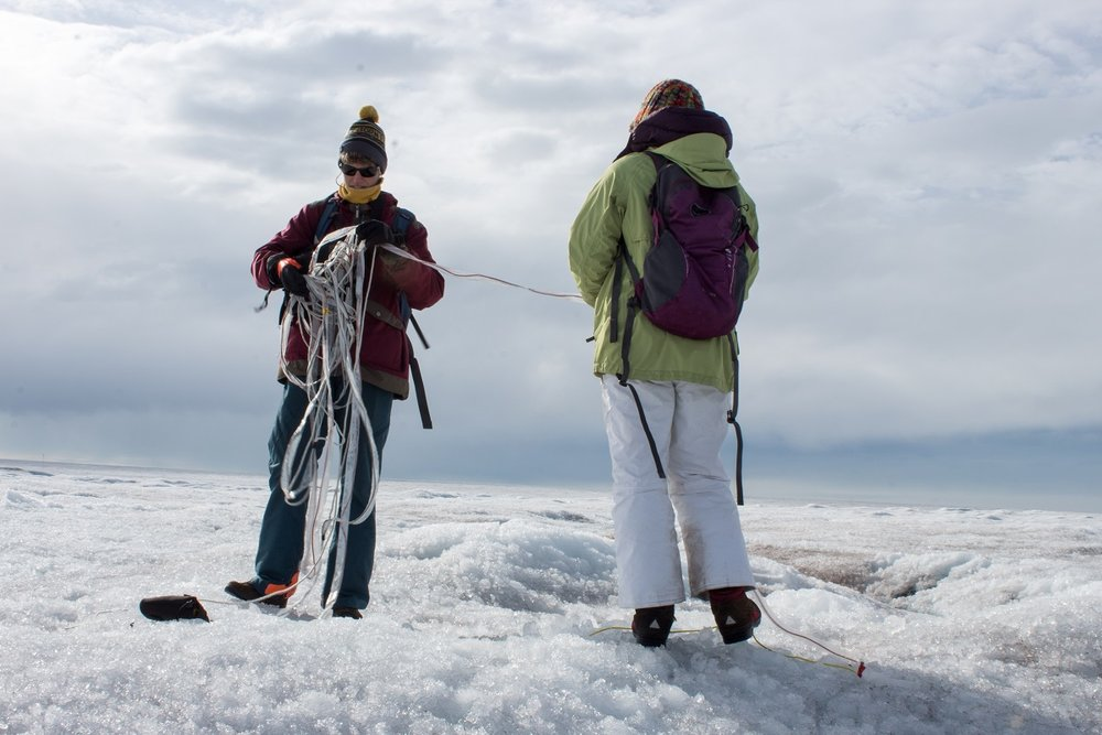 """The Greenland ice sheet is 10,000 feet thick in the center. """"You can't go there. You can't see it,"""" Joel Harper says. That's why he has his students working on mapping the bed with radar."""