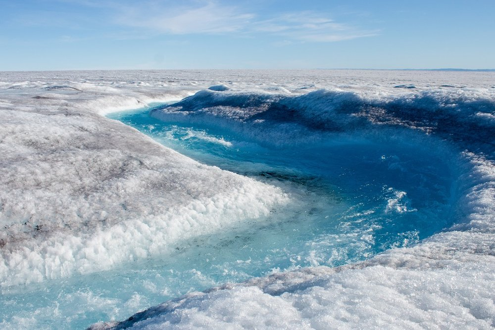 As humans warm the planet, surface melt is increasing. If the entire ice sheet melted, it would cause sea level to rise roughly 23 feet, inundating coastal areas around the world.