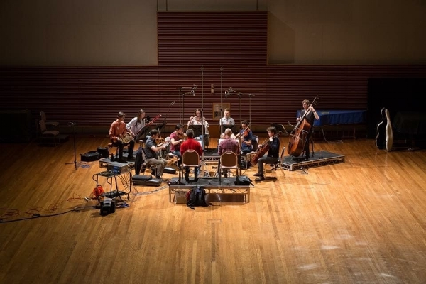 Omega Ensemble recording George Palmer's It Takes Two
