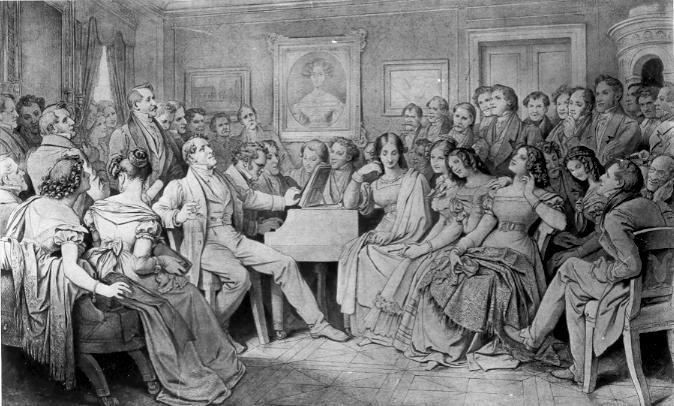 - Moritz von Schwind's depcition of a Schubertiade 1868