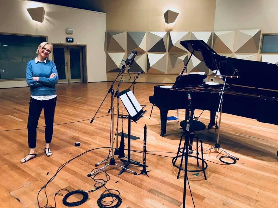 - Maria taking a break during the recording of Andrew Anderson's Miniatures