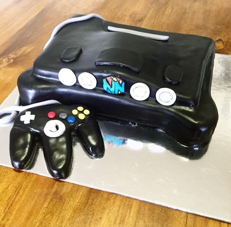 nintendo 64 custom cake  | Brisbane Custom Cake Decorator | Holly Eloise Cake Artist | Kids