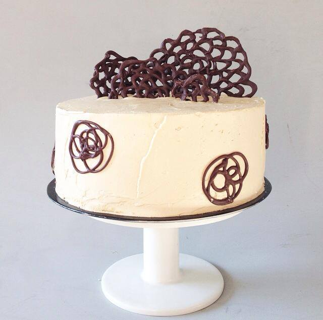 Buttercream chocolate swirl cake