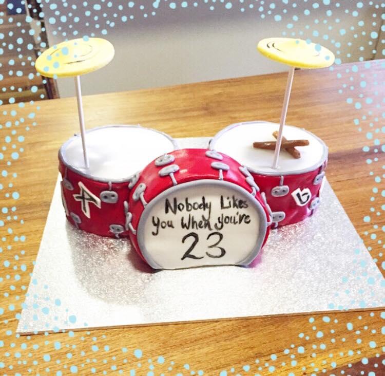 Brisbane Custom Cake Decorator | Holly Eloise Cake Artist | Kids drum cake