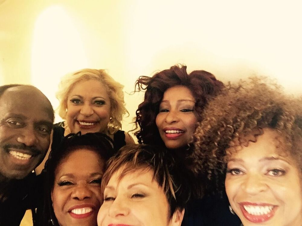 Backstage with Chaka Khan on the Late Show