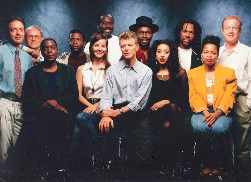 "David Bowie session for ""Black Tie, White Noise"""