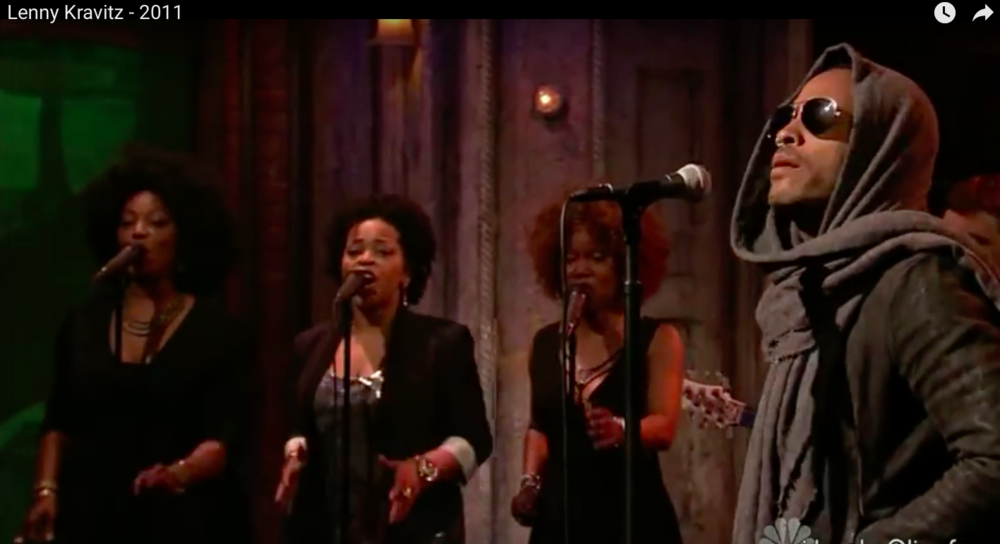 Lenny Kravitz with The Roots on The Tonight Show with Jimmy Fallon
