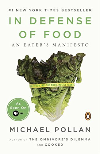 In Defense of Food   by Michael Pollan     The width and breadth of our food system seems to indicate that we have the longest list of options and choices, but in reality, our food system is very broken and there is extreme disconnect between eaters and growers.