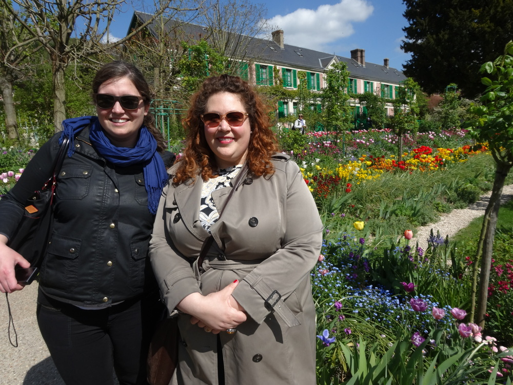 Julia and Meg in Monet's Garden in Giverny, France in 2014
