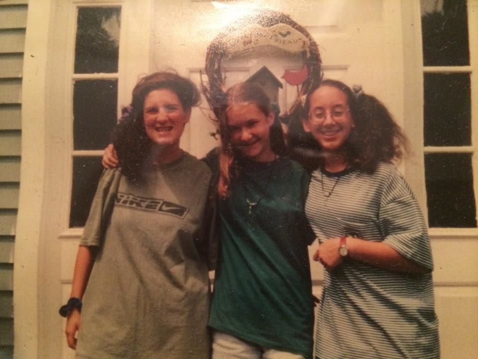 Zarina (far right) with her friends Melissa and Courtney at age 12, with no idea of the opportunities that were in store for her.