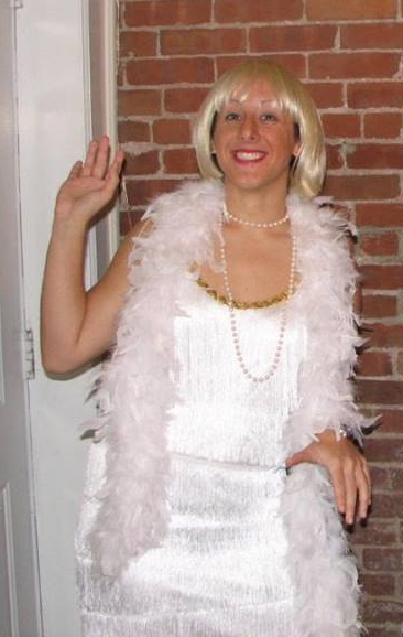 Zarina dressed up for Halloween as a flapper when she was 21.