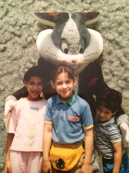 Zarina, center, age 7 with her best friend and her younger brother at Six Flags Great Adventure.